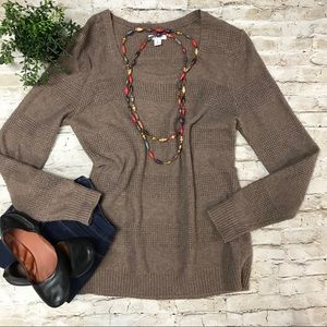 OLD NAVY Women's Light Brown Sweater Solid SZ LG